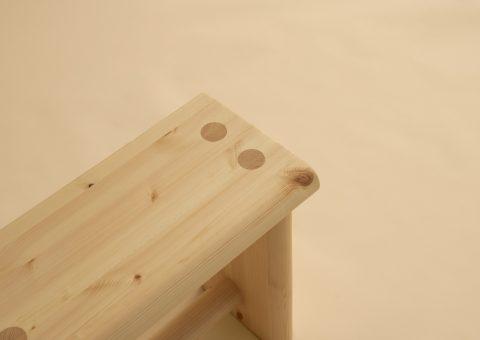 Wooden stool details